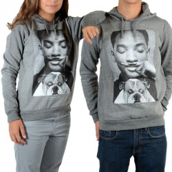 Sweat Little Eleven Paris Smith Will Smith Mixte (Garçon / Fille) Gris