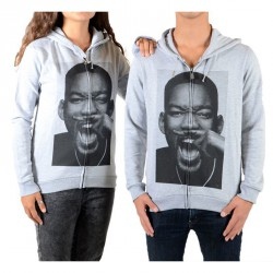 Sweat Zippé Little Eleven Paris Wilbis HZ Will Smith Mixte (Garçon / Fille) Gris Chiné