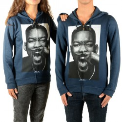 Sweat Zippé Little Eleven Paris Willy HZ Will Smith Mixte (Garçon / Fille) Navy