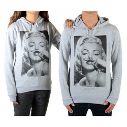 Sweat Little Eleven Paris Marylin HC Mixte (Garçon / Fille) Gris Chiné