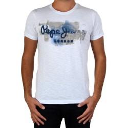 TeeShirt Pepe Jeans PM502526 Golders 2 Blanc 800