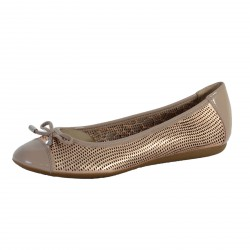 Ballerines Geox Lola Rose Gold And Light Taupe