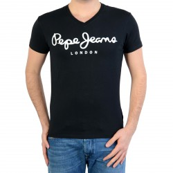 Tee Shirt Pepe Jeans (Col V) Original Stretch V Pm500373 999 Black