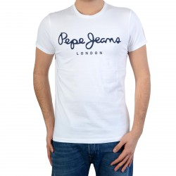Tee Shirt Pepe Jeans (Col Rond) Original Stretch Pm501594 800 White