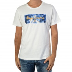 Tee Shirt Pepe Jeans Charon Off White PM503152