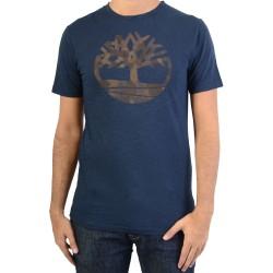 Tee Shirt Timberland SS KNNBEC Camo Tree Dark Sapphir