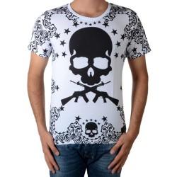 Tee Shirt Celebry Tees Skull 55 Full Blanc