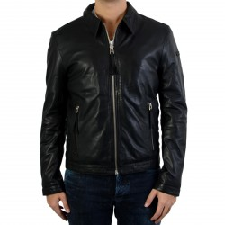 Bomber en cuir Redskins Snoop Martini Black