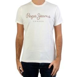 Tee Shirt Pepe Jeans PM503328 Sail Off White