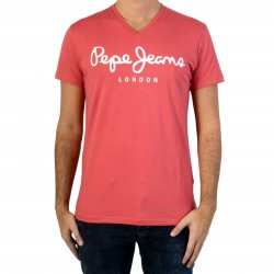 Tee Shirt Pepe Jeans PM5003373 original Stretch V Cardinal Red