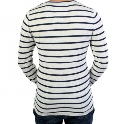Pull Fin Deeluxe Madox S17310 Off White