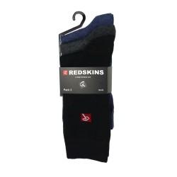 Pack de 3 Paires de Chaussettes Redskins Noir/Gris/Bleu CHA02NOGRBU