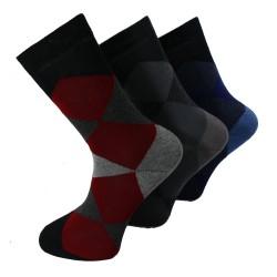 Pack de 3 Paires de Chaussettes Redskins Noir/Gris/Bleu CHA03NOGRBU