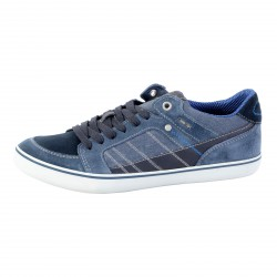 Chaussure Geox Suede+Wash Canvas Navy U64R3F 022NB C4002