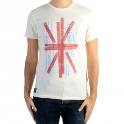 Tee Shirt Pepe Jeans Flag Antique White