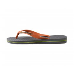 Tong Havaianas H Brasil Logo Steel Grey / Neon Orange