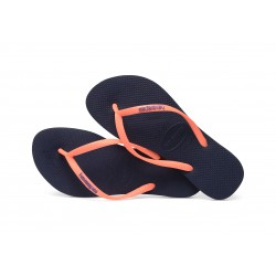 Tong Havaianas H Slim Logo Pop Up Navy Blue