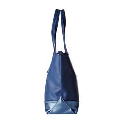 Sac Le Temps Des Cerises Cabas L Amel 1 LTC3Z47BH19 Bleu et Bleu Argenté