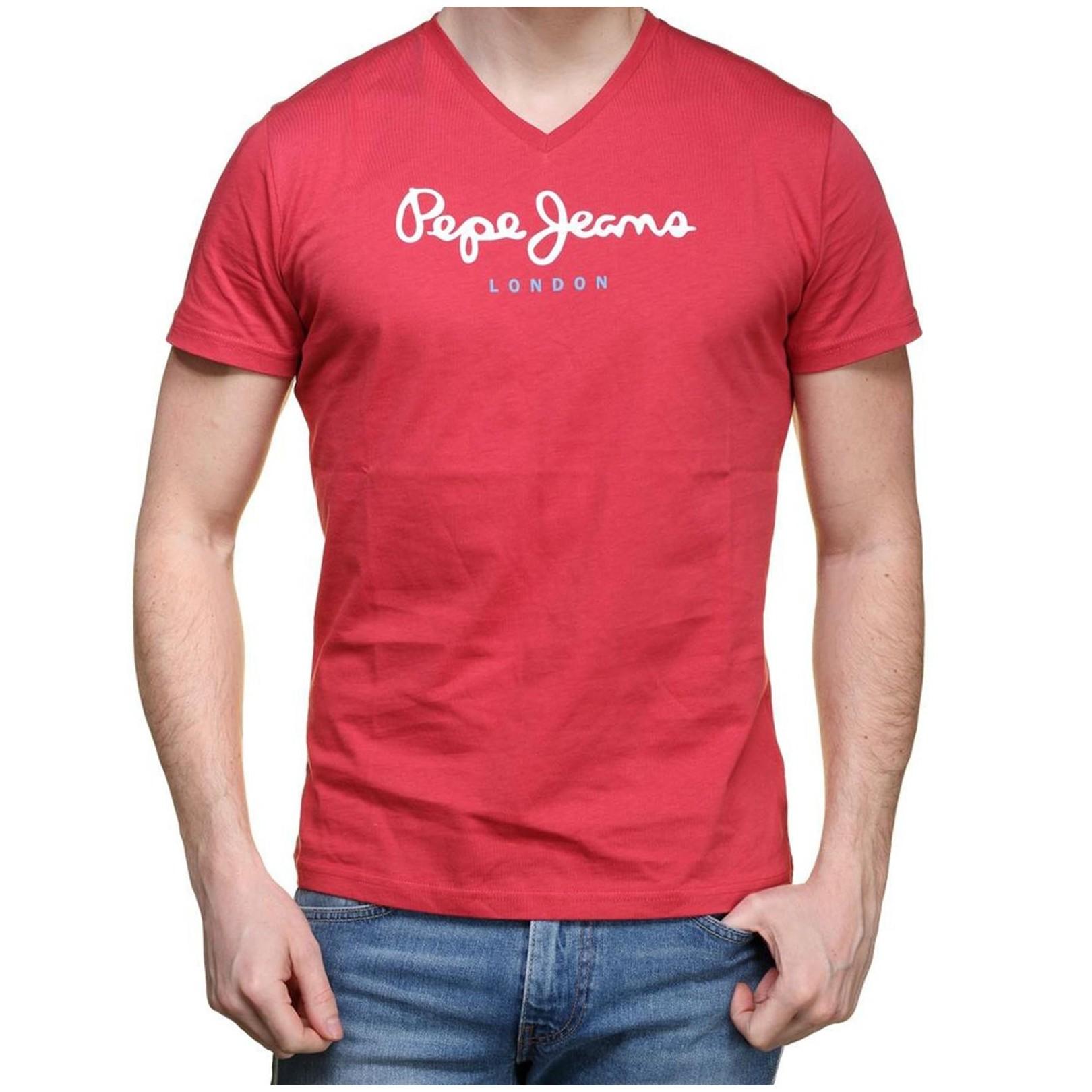 Tee Shirt Pepe Jeans PM501389 Eggo V 237 Cardinal Red