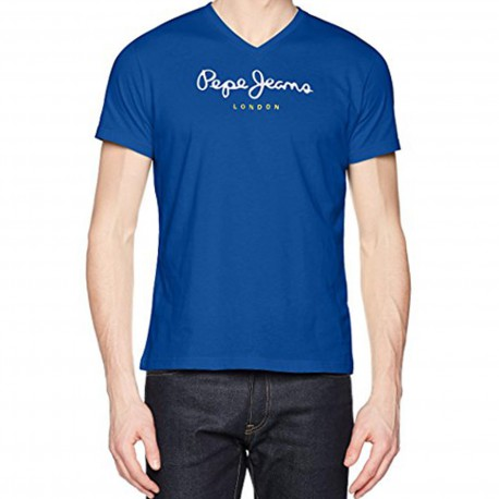 Tee Shirt Pepe Jeans PM501389 Eggo V 535 True Blue