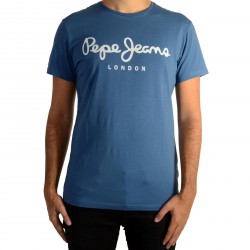 Tee Shirt Pepe Jeans (col rond) Original Stretch Modern Blue