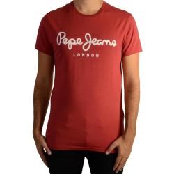 Tee Shirt Pepe Jeans (col rond) Original Stretch Garnet