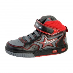 Basket Geox Enfant Gregg A J7447A 05411 C0048 Black/Red