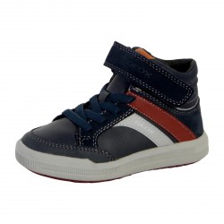 Basket Geox Enfant Arzach Boy 744AC 05422 C4335 Navy Bordeaux