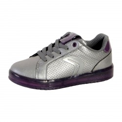 Basket Geox Enfant Kommodor Girl J744HA 000NF C1AF8 Dark Silver Prune