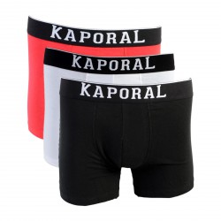 Pack de 3 Boxer Kaporal Quad Black / White / Red