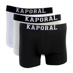 Pack de 3 Boxer Kaporal Quad Black / White / Grey Melanged