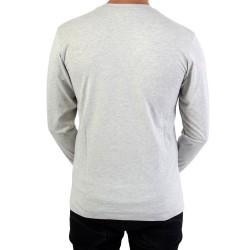 Tee Shirt Fila Classic Logo LongSleeve 680485 Grey Melange B13