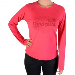 Tee Shirt Desigual 17WTRK45 CA ML Essentials 3139 Raspberry