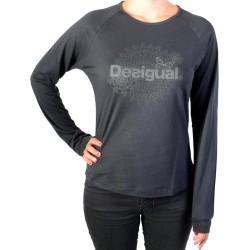 Tee Shirt Desigual 17WTRK45 CA ML Essentials 2000 Negro