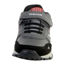 Basket Geox Enfant Bernie A J7411A 0FU54 C0047 Dark Grey/Red