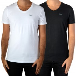 Pack de 2 Tee Shirt Kaporal Gift White/Black