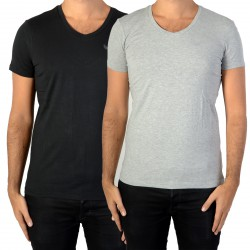 Pack de 2 Tee Shirt Kaporal Gift Black/Grey Melanged