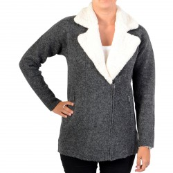 Cardigan Kaporal Fish Dark Grey Melanged