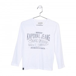 Tee Shirt Kaporal Enfant Nark Optical White