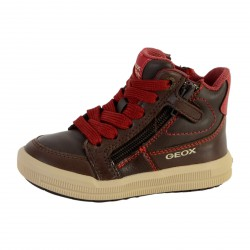 Basket Geox Enfant Arzach Coffe Dark Red