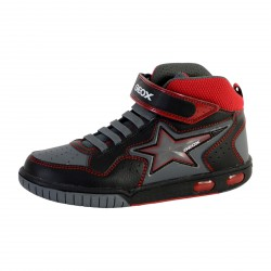 Basket Geox Enfant Gregg Black Red