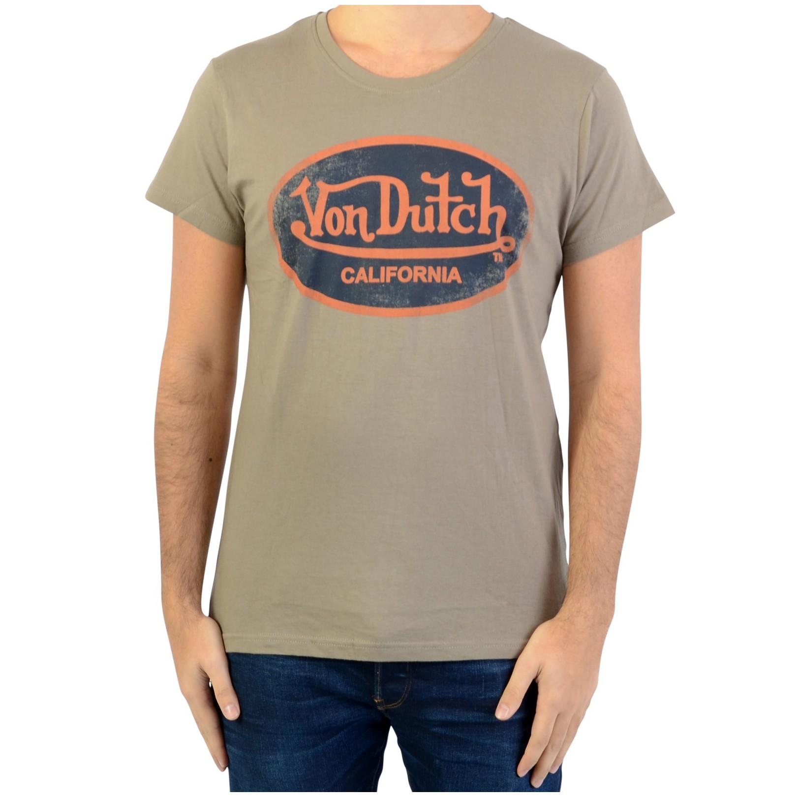Tee Shirt Von Dutch Aaron 07 Kaki/Navy