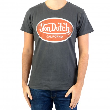 Tee Shirt Von Dutch Aaron 14 Carbone/Orange