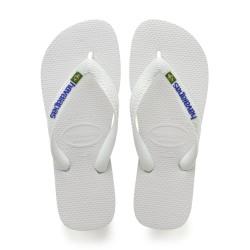Tong Havaianas H Brazil Logo pour Homme Blanc