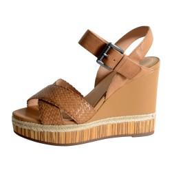 Sandale Geox D YULIMAR C -GOAT LEA+PR.BUFF