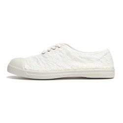 Tennis Lacet Bensimon Broderie Anglaise