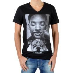T-Shirt Eleven Paris Willy V Neck Noir