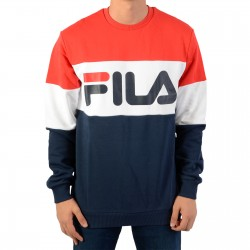 Sweat Fila Men Straight Blocked Crew