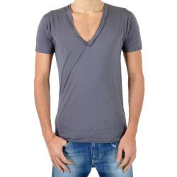T-Shirt Eleven Paris L2 Basic Big V SS Gris Rock