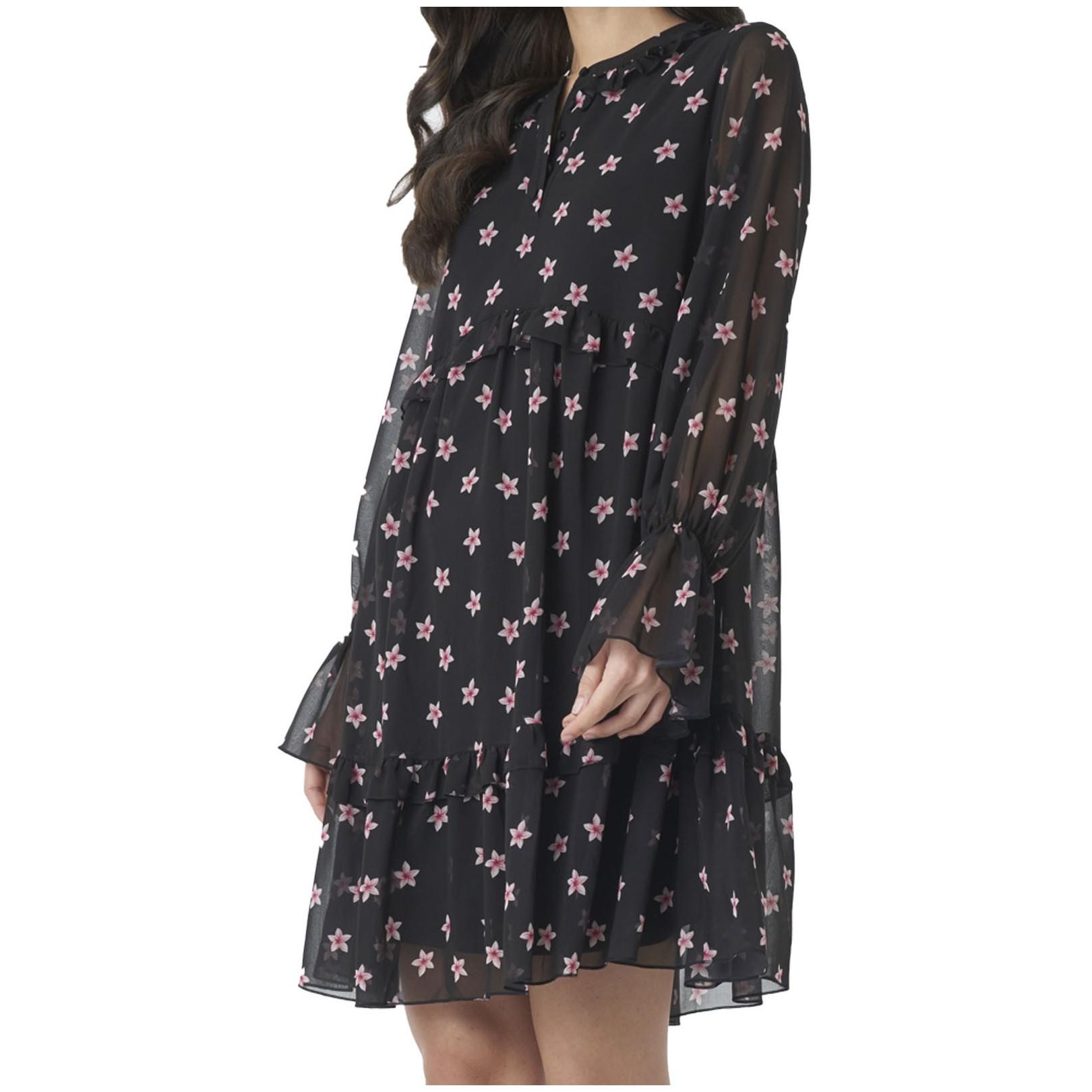 Robe NAKD Floral Print Ruffled Dress